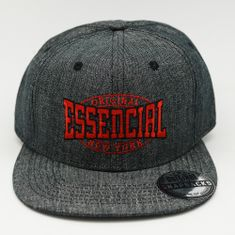 BONE-ABA-RETA-SNAPBACK-ESSENCIAL-DENIM-CINZA-FRENTE