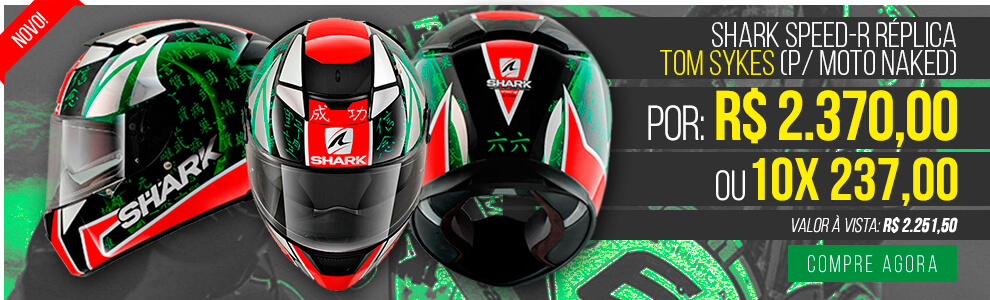 Capacete Shark Speed R Réplica Tom Sykes (p/ moto naked)
