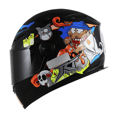 CAPACETE-RACE-TECH-RT501-WITCH-PRETO-AZUL-FLUOR