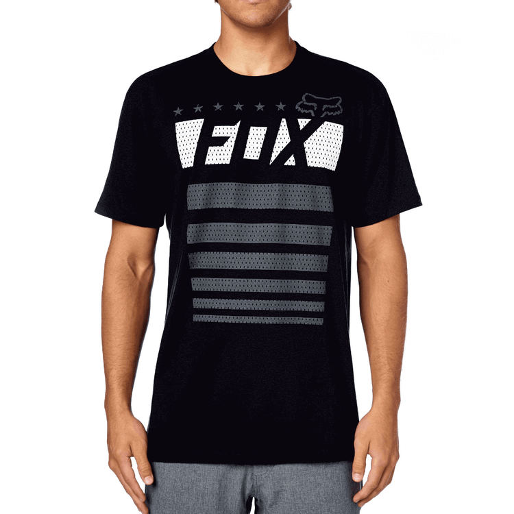 CAMISETA-FOX-RED-WHITE-AND-TRUE-PRETO