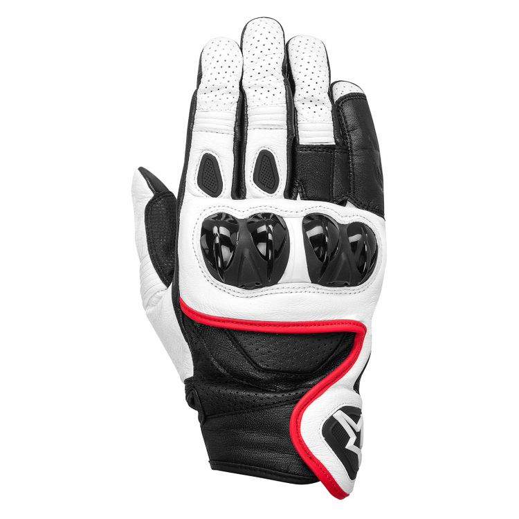 CELER_leather_glove_white_black_red