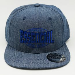 BONE-ABA-RETA-SNAPBACK-ESSENCIAL-DENIM-AZUL-FRENTE
