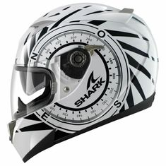 CAPACETE SHARK S900 C HEDGE (C/ AIR PUMP) BRANCO