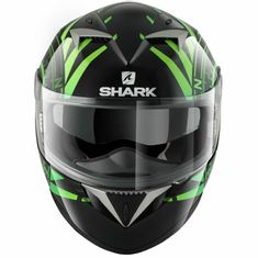 CAPACETE SHARK S900 C HEDGE (C/ AIR PUMP) PRETO/VERDE