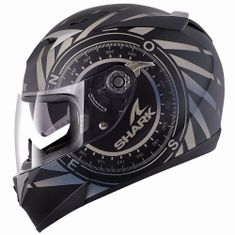 CAPACETE SHARK S900 C HEDGE (C/ AIR PUMP) PRETO FOSCO