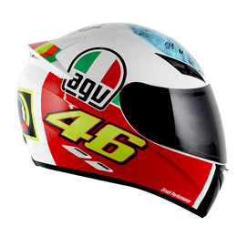 CAPACETE-AGV-K3-THE-EYE-REPLICA-VALENTINO-ROSSI-BRANCO