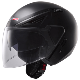 CAPACETE-LS2-OF586-BISHOP-MONOCOLOR-PRETO-FOSCO