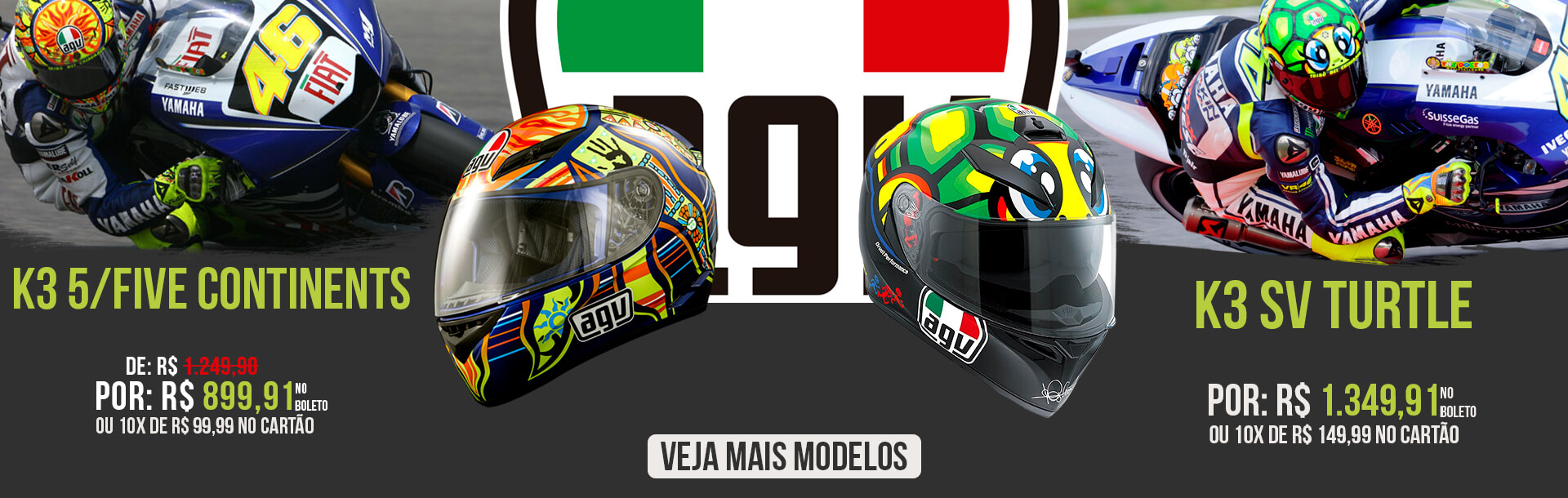 agv k3 turtle + 5/continents