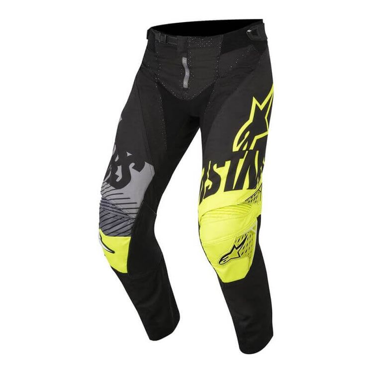 CALCA-ALPINESTARS-RACER-SCREAMER-YOUTH-PRETO-AMARELO-FLUOR-CINZA