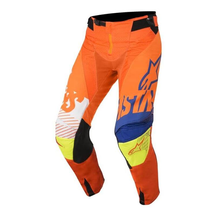 CALCA-ALPINESTARS-RACER-SCREAMER-YOUTH-LARANJA-FLUOR