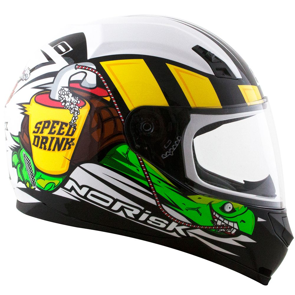 72847f9f2 CAPACETE NORISK FF391 SPEED DRINK BRANCO - RS1