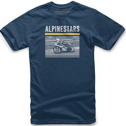 CAMISETA-ALPINESTARS-RECORDED-AZUL