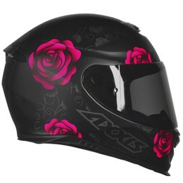 CAPACETE-AXXIS-EAGLE-FLOWERS-PRET0-ROSA-1