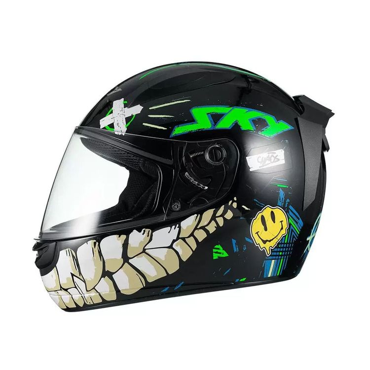 CAPACETE-SKY-TWO-CHAOS-PRETOVERDE